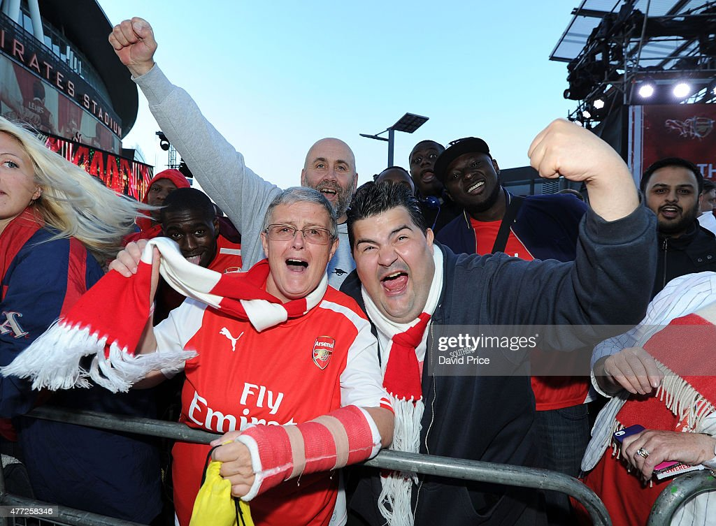 Arsenal fans at the Puma Home kit Launch at Emirates Stadium on June ... 70b34a2a5