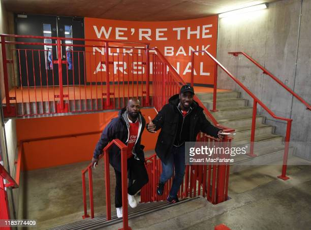 Arsenal fans before the Premier League match between Arsenal FC and Crystal Palace at Emirates Stadium on October 27, 2019 in London, United Kingdom.