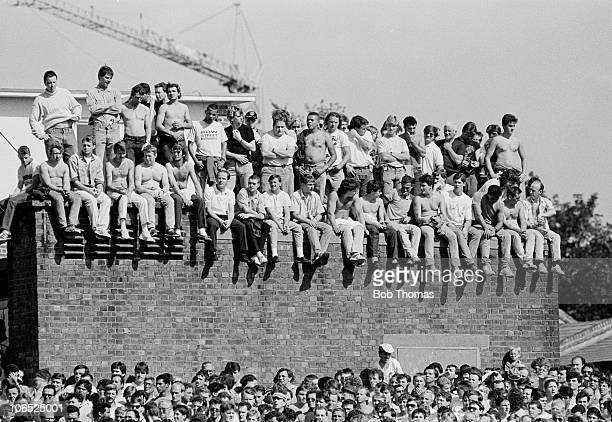 Arsenal fans during the Division One football match against Liverpool held at Highbury London on 15th August 1987 Liverpool beat Arsenal 21