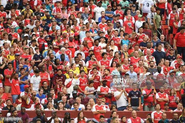 Arsenal fans during the match between Real Madrid v Arsenal in the 2019 International Champions Cup at FedExField on July 23 2019 in Landover Maryland