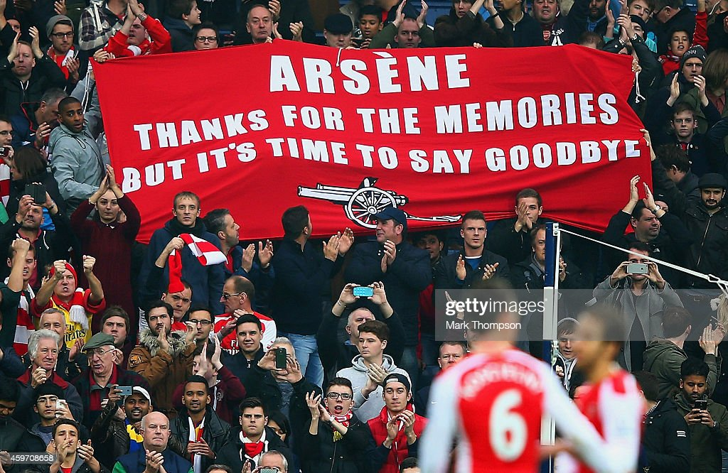 Arsenal's Fans Protests at Arsene Wenger