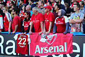 huddersfield england arsenal fans look during