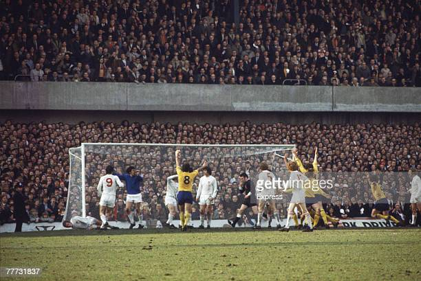 Arsenal FC are awarded a controversial penalty after an apparent handball by John Mahoney deep into injury time during the FA Cup SemiFinal against...