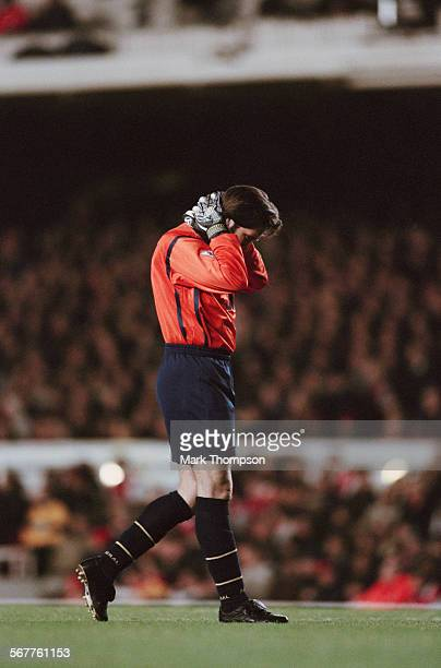 Arsenal FC goalkeeper David Seaman during an FA Cup match against Wimbledon FC 19th April 1999