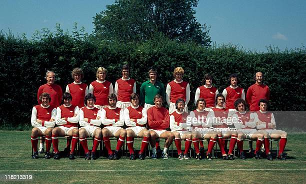 Arsenal First Team Squad at Colney Heath near London August 1977 Back row Wilf Dixon Graham Rix David Price David O'Leary Jimmy Rimmer Willie Young...