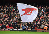 london england arsenal flags during premier
