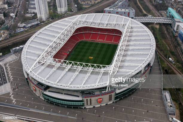 Arsenal football club's new home the Emirates Stadium in Holloway March 25 2007 in North London England