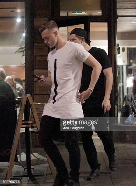 Arsenal Footballer Calum Chambers sighting on April 13 2016 in London England