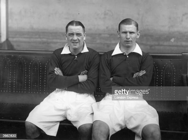 Arsenal footballers Cliff Bastin the most accomplished winger of his generation and Alex James Original Publication People Disc HD0439