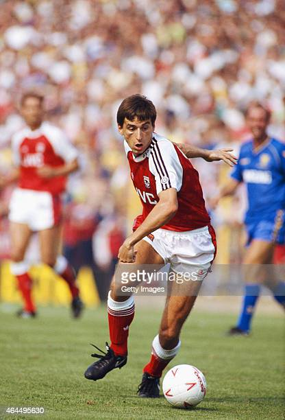 Arsenal forward Alan Smith in action during a League Division One match between Wimbledon and Arsenal at Plough Lane on August 25 1990 in London...