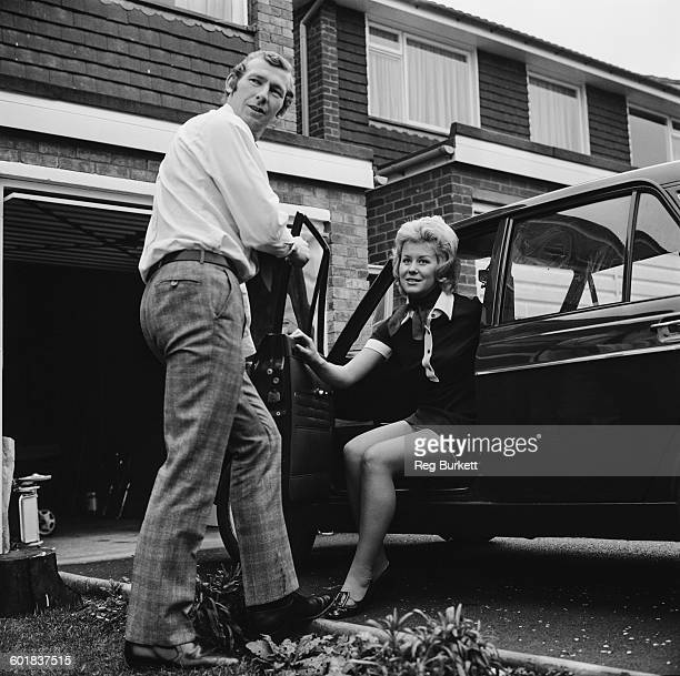 Arsenal goalkeeper Bob Wilson at home with his wife Megs UK 28th November 1970