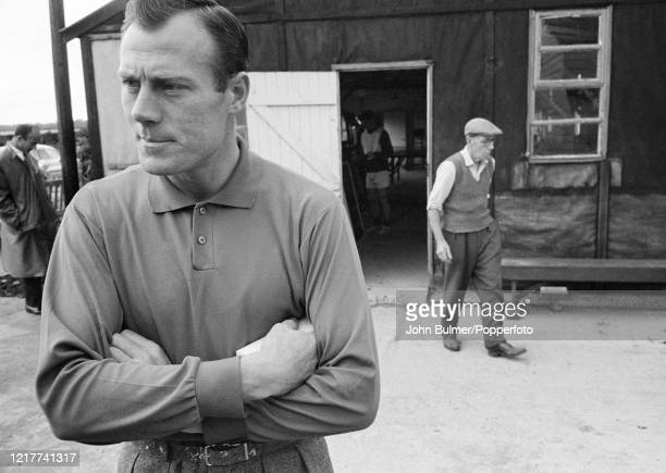 Arsenal goalkeeper Jack Kelsey after a training session at London Colney, in England, on 21st August 1962.