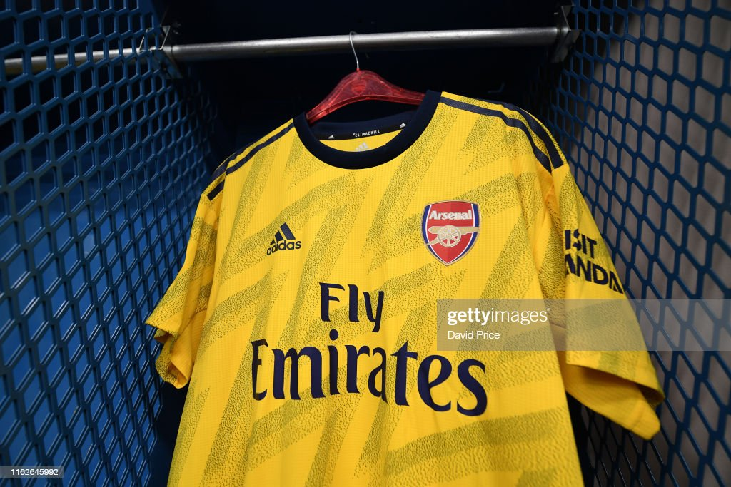 reputable site 7df71 bc1ea Arsenal goalkeepers kit in the changing room before the ...