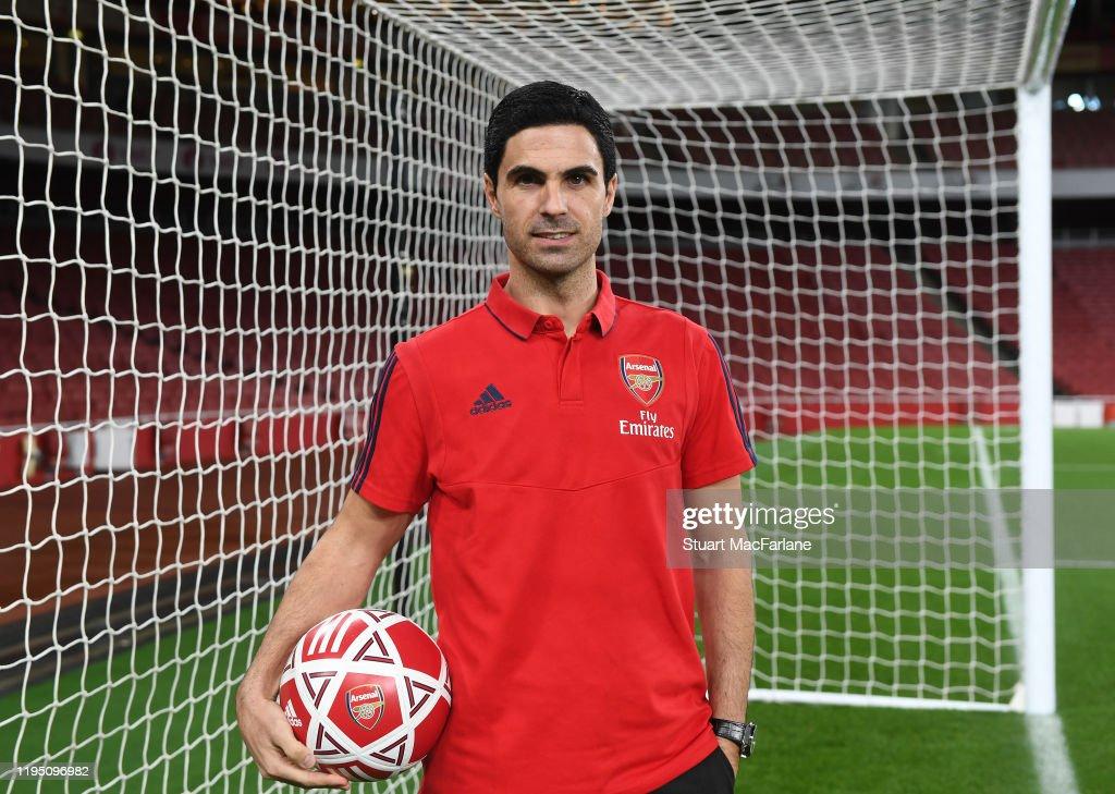 New Arsenal New Head Coach Mikel Arteta Visits the Emirates Stadium : News Photo