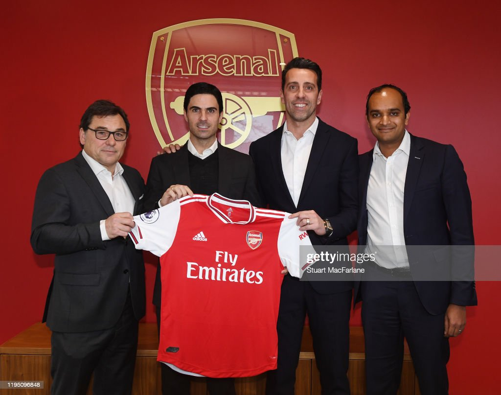 Arsenal Unveil New Head Coach Mikel Arteta : News Photo