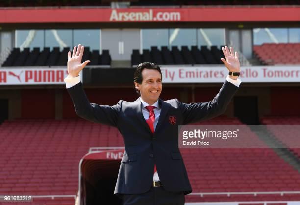 Arsenal Head Coach Unai Emery at Emirates Stadium on May 23, 2018 in London, England.