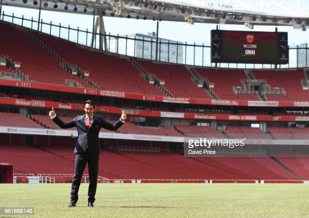 Arsenal Head Coach Unai Emery at Emirates Stadium on May 23 2018 in London England