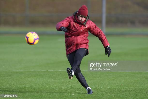 Arsenal Head Coach Unai Emery during a training session at London Colney on January 18, 2019 in St Albans, England.