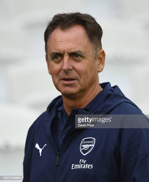 Arsenal Head of Coach and Player Developmant Marcel Lucassen before the match between West Ham United U23 and Arsenal U23 at London Stadium on August...