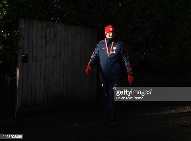 Arsenal Interim Head Coach Freddie Ljungberg before a training session at London Colney on December 14 2019 in St Albans England