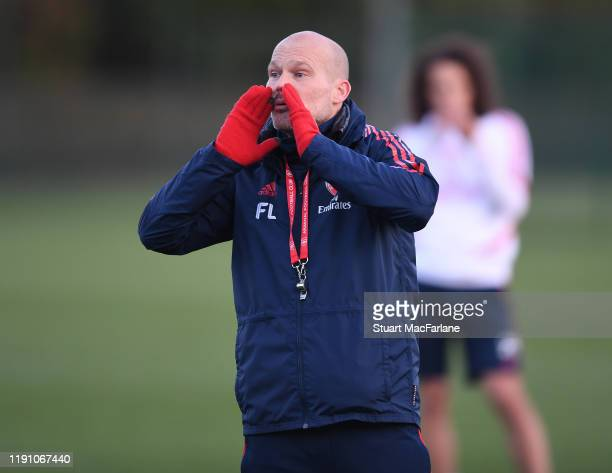 Arsenal Interim Head Coach Freddie Ljungberg during a training session at London Colney on November 30 2019 in St Albans England
