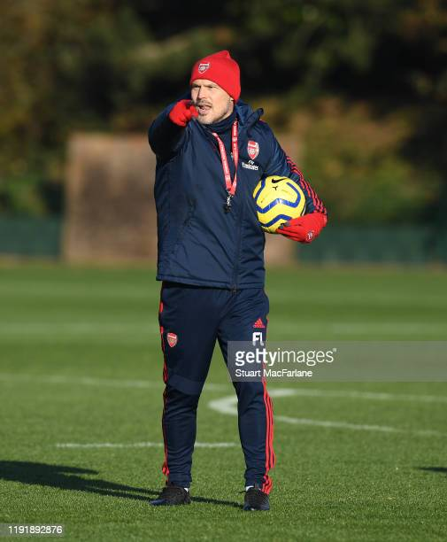 Arsenal Interim Head Coach Freddie Ljungberg during a training session at London Colney on December 04 2019 in St Albans England