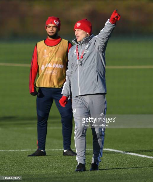 Arsenal Interim Head Coach Freddie Ljungberg during a training session at London Colney on December 11 2019 in St Albans England