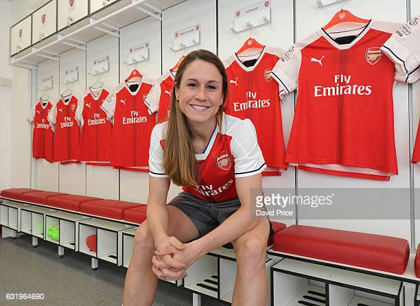 Arsenal Ladies latest signing Heather O'Reilly at London Colney on January 16 2017 in St Albans England