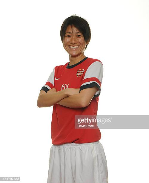 Arsenal Ladies new signings Yukari Kinga at Arsenal Training Ground at London Colney on February 25 2014 in St Albans England