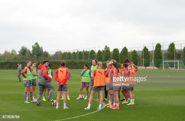 Arsenal Ladies Training Session at London Colney on May 3 2017 in St Albans England