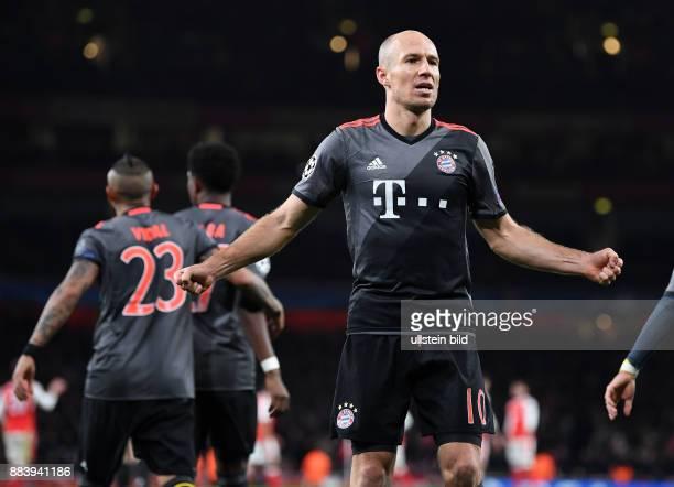 Arsenal London - FC Bayern Muenchen Torjubel: Arjen Robben