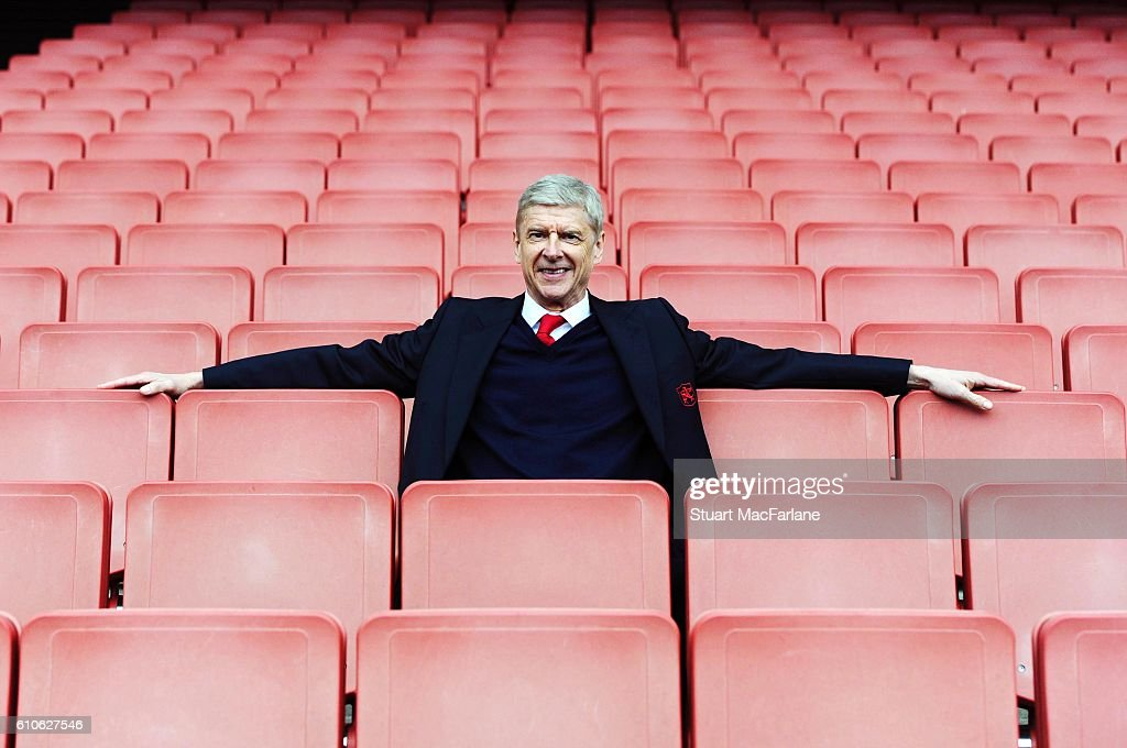 Arsenal manager Arsene Wenger after the Barclays Premier League match between Arsenal and Watford at Emirates Stadium on April 2, 2016 in London, England.