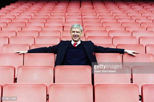 Arsenal manager Arsene Wenger after the Barclays Premier League match between Arsenal and Watford at Emirates Stadium on April 2 2016 in London...