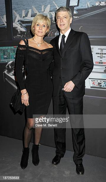 Arsenal Manager Arsene Wenger and wife Annie Wenger attend the IWC Top Gun Gala Event at 22nd SIHH High Jewellery Fair on at the Palexpo Exhibition...