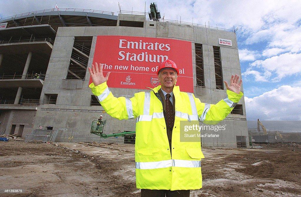 Arsenal manager Arsene Wenger at Emirates Stadium at Emirates Stadium on October 6, 2004 in London, England.