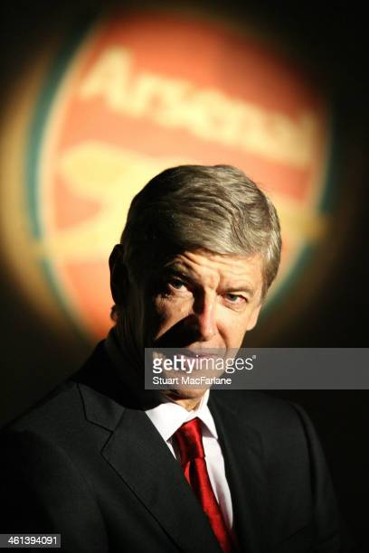 Arsenal manager Arsene Wenger at Emirates Stadium on August 16 2008 in London England