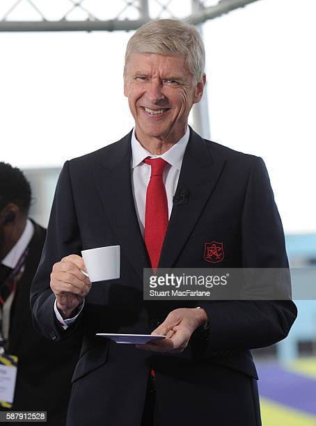 Arsenal manager Arsene Wenger attends the Premier League Season Launch on August 10 2016 in Islington England