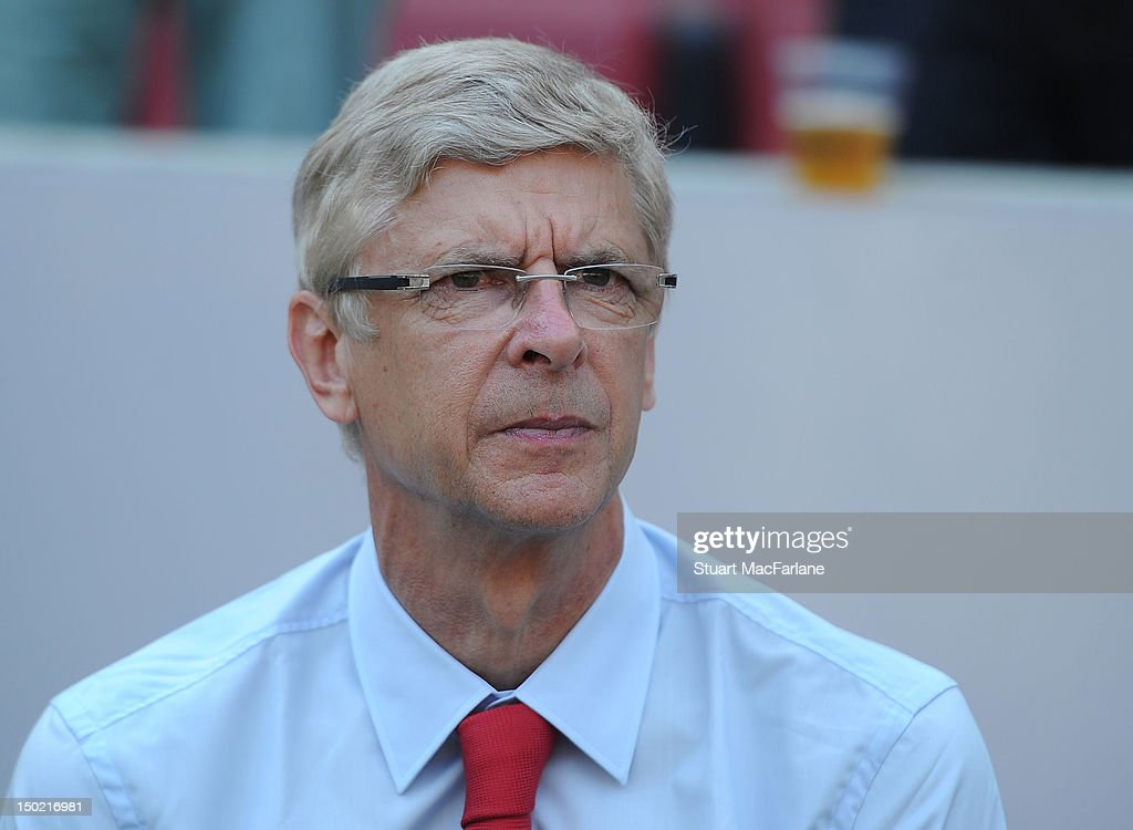 Arsenal manager Arsene Wenger before Pre-Season Friendly game at Rhein Energie Stadium on August 12, 2012 in Cologne, Germany.