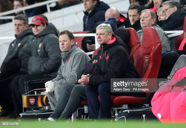 Arsenal manager Arsene Wenger during the UEFA Europa League round of 32 second leg match at the Emirates Stadium London