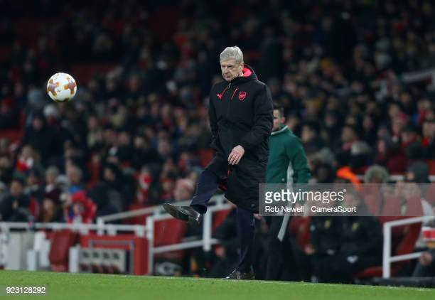 Arsenal manager Arsene Wenger during UEFA Europa League Round of 32 Second Leg match between Arsenal and Ostersunds FK at the Emirates Stadium on...