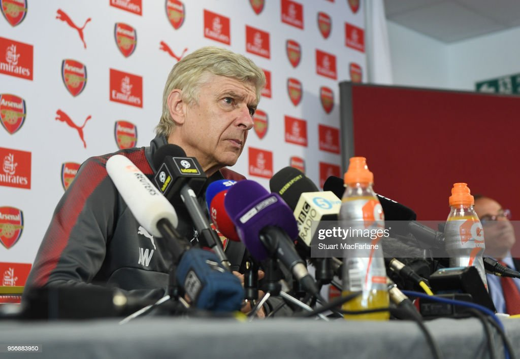Arsene Wenger Attends his Last Arsenal Press Conference