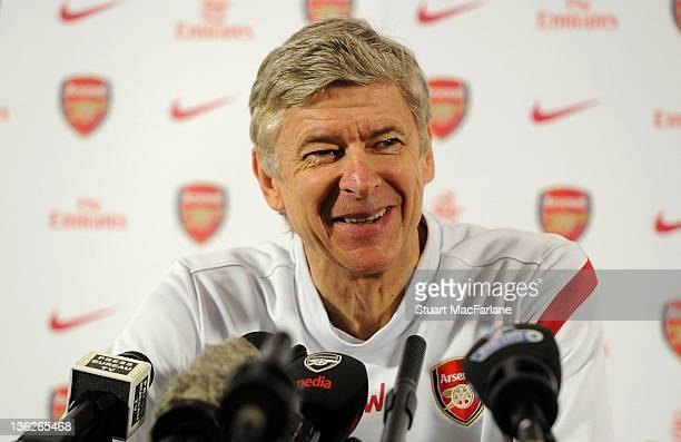 Arsenal manager Arsene Wenger holds a press conference at London Colney on December 30, 2011 in St Albans, England.