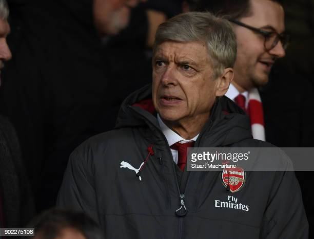Arsenal manager Arsene Wenger in the directors box before the FA Cup 3rd Round match between Nottingham Forest and Arsenal at City Ground on January...