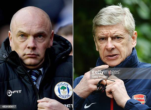 IMAGES Image Numbers 460527551 and 477574919 In this composite image a comparison has been made between Arsene Wenger the Manager of Arsenal and Uwe...