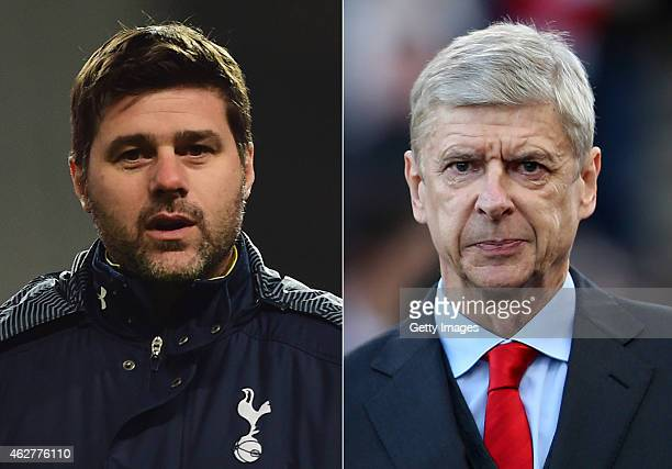 COMPOSITE OF TWO IMAGES Image numbers 460244366 and 460050132 In this composite image a comparision has been made between Mauricio Pochettino manager...