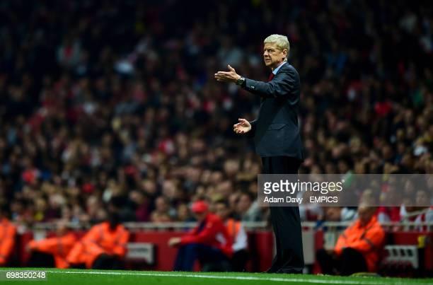 Arsenal manager Arsene Wenger on the touchline