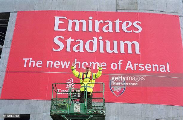 Arsenal manager Arsene Wenger poses at Emirates Stadium on October 6 2004 in London England