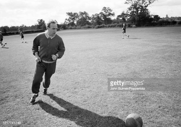Arsenal manager Billy Wright during a training session at London Colney, in England, on 21st August 1962.