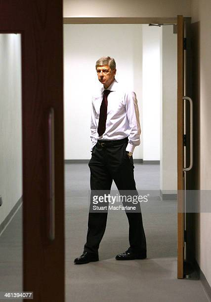 Arsenal manager in the Arsenal changing room at Emirates stadium on August 30 2008 in London England