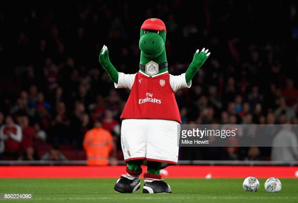 Arsenal mascot prior to the Carabao Cup Third Round match between Arsenal and Doncaster Rovers at Emirates Stadium on September 20, 2017 in London,...